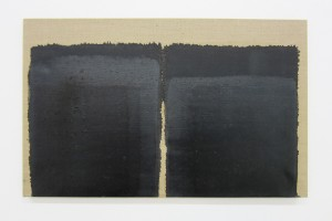 « Burnt Umber & Ultramarine », 1994-1997, huile sur toile, 33 x 53 cm