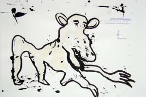 sans titre, feutre sur papier, 50 x 65 cm