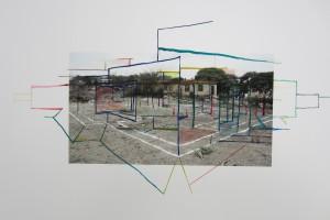 « abrahamsz, 2007 > amsterdam, 2011 », 2011, encre sur photographie, 38 x 57 cm – exemplaire unique