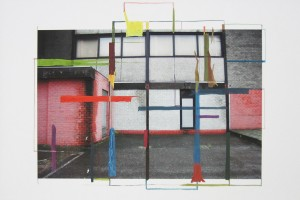 « Offenbeek, 2008 – Amsterdam, 2011 », peinture mixte sur impression jet d'encre, 41.7 x 59.3 cm