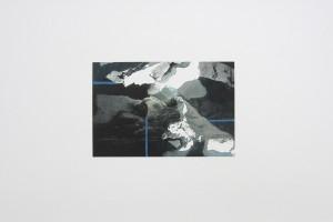 Sans titre, 2011, peinture mixte sur impression jet d'encre, 41.7 x 59.3 cm