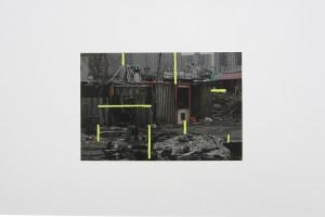 « Coney Island, 2007 – Amsterdam, 2012 », peinture mixte sur impression jet d'encre, 41.7 x 59.3 cm