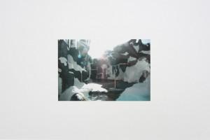 « San Diego, 2006 – Amsterdam, 2011 », peinture mixte sur impression jet d'encre, 41.7 x 59.3 cm