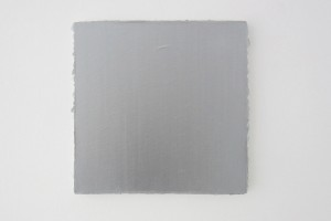 « Carré argent », 2008, acrylique sur toile, 30 x 30 cm