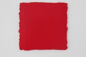 Carré rouge n°1 – 2013, acrylique sur toile, 20 x 20 cm