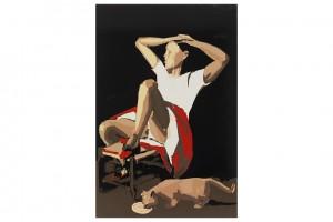 « RIP (Balthus) », 2013, huile sur toile, 300 x 200 cm