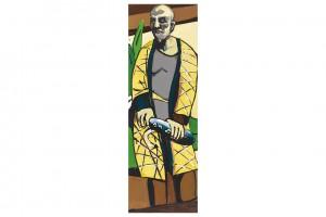 « RIP (Beckmann) », 2013, huile sur toile, 300 x 100 cm