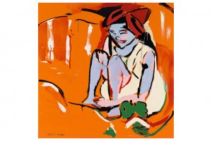 « RIP (Kirchner) », 2013, huile sur toile, 210 x 210 cm