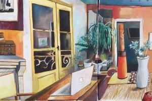 sans titre, 2013, aquarelle sur papier, 23 x 46 cm
