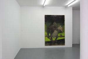 « RIP_Planet Rock (Destroy this mad brute) », 2012-2013, peinture acrylique et Enamel sur toile, 300 x 200 cm