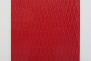 Métal rouge – 2012, laque sur tôle aluminium, 46 x 41 cm