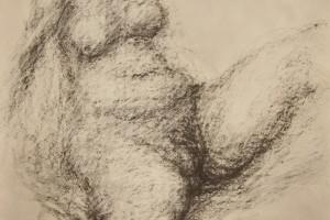 sans titre, 1973, fusain sur papier, 108 x 75 cm