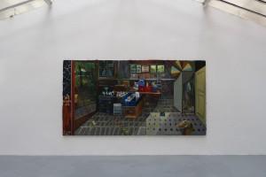 « Big Bang », 2013, huile sur toile, 200 x 380 cm