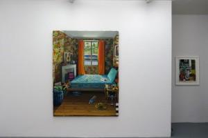« Flower Power » et « Sans titre (PG04/13) », 2013, pastel sur papier, 55 x 50 cm