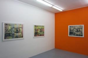 « R.V.B. », 2013, lithographie sur papier Japon, 72 x 90 cm (éditions 10 exemplaires) et « R.V.B. », 2013, lithographie sur papier Hahnemühle et aquarelle, 72 x 90 cm (édition de 11 exemplaires).
