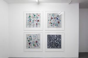 « Quadrillé billes » – 2011, scanogramme, épreuve pigmentaire, 105 x 96 cm