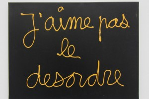 « J'aime pas le désordre », 2013, acrylique sur toile, 46 x 61 cm