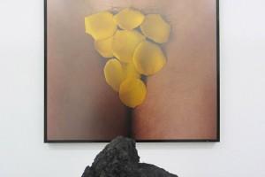 « Bacio di Napoli », 1995, lave du Vésuve et photographie, 50 x 50 cm