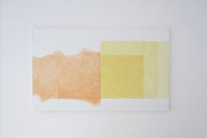 « Éloge du Jaune de Naples », acrylique, et crayon sur toile, 97 x 162 cm