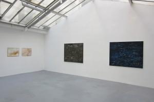« Course », 2014, huile sur toile, 130 x 162 cm – « Mars », 2014, huile sur toile, 130 x 162 cm