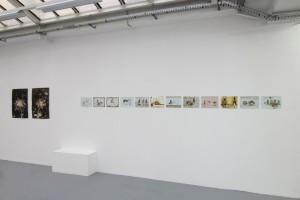 Œuvres sans titre, 2014, technique mixte sur papier, 21 x 29,7 cm chaque