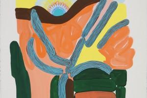 «Arbre et soleil», 2012, gouache sur papier, 75 x 56 cm
