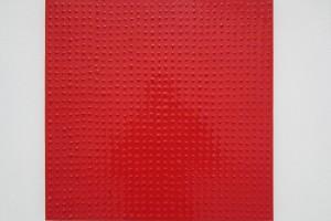 Parpaing – 2013, laque sur toile sur toile, 50 x 50 cm