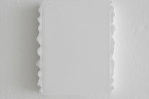 « Petit blanc (mardi) », 2003, acrylique sur toile, 18 x 13 cm