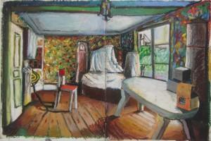 Sans titre (PG 04), 2014, pastel gras sur papier, 36 x 52 cm