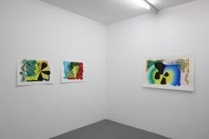 « Feuilles brésiliennes », 2012 gouache sur papier, 56 x 76 cm – sans-titre (Feuilles), 2012 gouache sur papier, 56 x 76 cm – « Arc-en-ciel », 2012 gouache sur papier, 80 x 120 cm