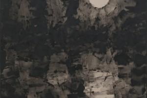 Sans titre, gesso sur lin, 172 x 144 cm
