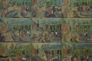 «La danse des veuves à Yalta», 2014 , huile sur toile, 120 x 150 cm