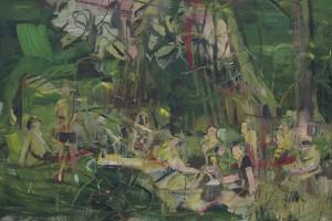 «Halte de Trie-Château (Claudia)», 2014, huile sur toile, 66 x 99 cm
