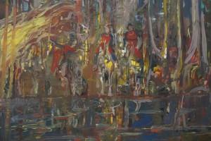 «Vers des mondes inconnus», 2014, huile sur toile, 120 x 150 cm