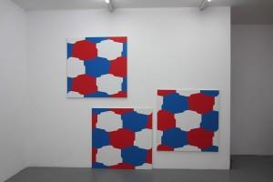 tryptique, 2008, acrylique sur toile, 116 x 116 cm chacune