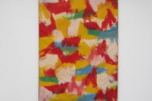 sans titre, 1965, huile sur papier marouflé sur toile, 218 x 135 cm