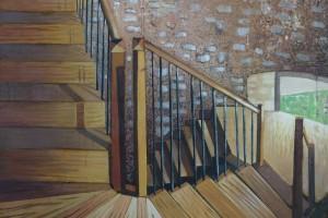 Spirale – 2015, huile sur toile, 100 x 70 cm