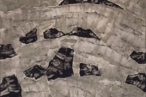 Sans titre – 2015, gesso et acrylique sur lin, 165 x 180 cm