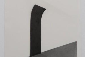 Sans titre, 2015 – mine graphite et poudre de graphite sur papier BFK Rives – 52 x 37 cm