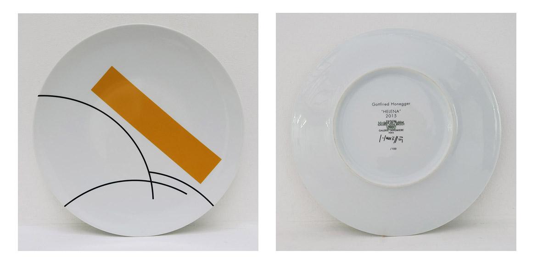 Gottfried Honegger – « Helena », 2015, porcelaine de Limoges, diam. 32 cm