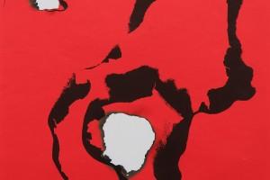 Affiche sérigraphiée brûlée, 1973, 58,5 x 42 cm