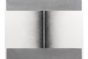 Sans titre, 2015, mine de graphite et poudre de graphite sur papier, 63 x 63 cm