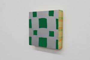 Sans titre, 1999, acrylique sur tissu, 20 x 20 cm