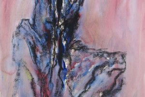 Sans titre, 1993, gouache et fusain sur papier, 107,5 x 75 cm