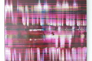 Chaque jour #A, 2005, acrylique sur PMMA, 74 x 66 cm