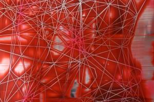 Scratch #0310, 2010, acrylique sur PMMA miroir, 96 x 120 x 5 cm