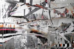 Pour l'instant – 2012, acrylique sur PMMA miroir, 200 x 201 x 6 cm