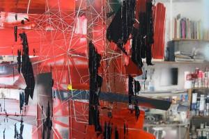 « Pour voir #3711 », 2011, acrylique sur pmma miroir, 161 x 170 x 7 cm