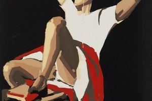 «RIP (Balthus)», 2009-10, huile sur toile, 300 x 200 cm