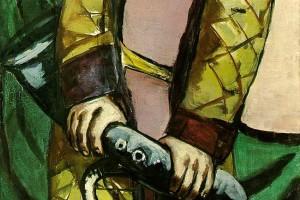 «RIP (Beckman)», 2013, huile sur toile, 300 x 100 cm